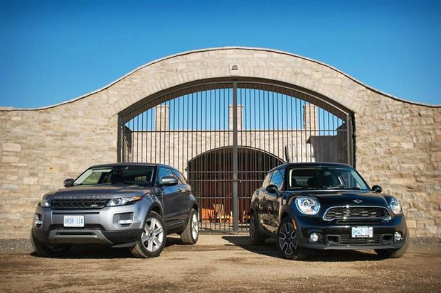 Read about the Autos.ca Comparison Test: Range Rover Evoque Coupe vs. Mini Paceman