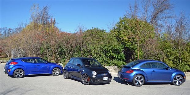 Read about the Autos.ca Comparison Test: Funky Front-Wheel-Drive Turbos