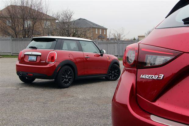 Read about the Autos.ca Head vs Heart Comparison: 2014 Mazda3 Sport GS vs 2014 Mini Cooper