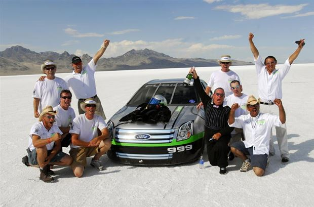 Read about the Autos.ca Ford sets land speed record with hydrogen racecar